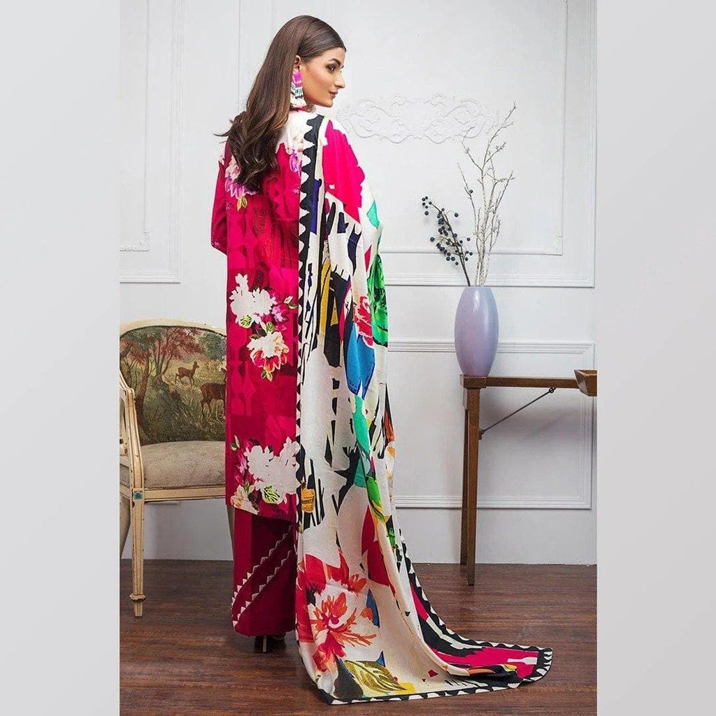 3 PCS GUL AHMED KHADDAR SUIT WITH WOOL SHAWL CODE D-57