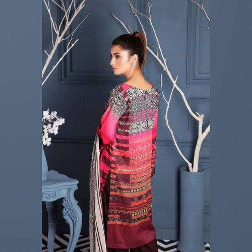 3 Pcs Charizma Marina Dress with Wool Shawl D-62 - Chenab Stuff