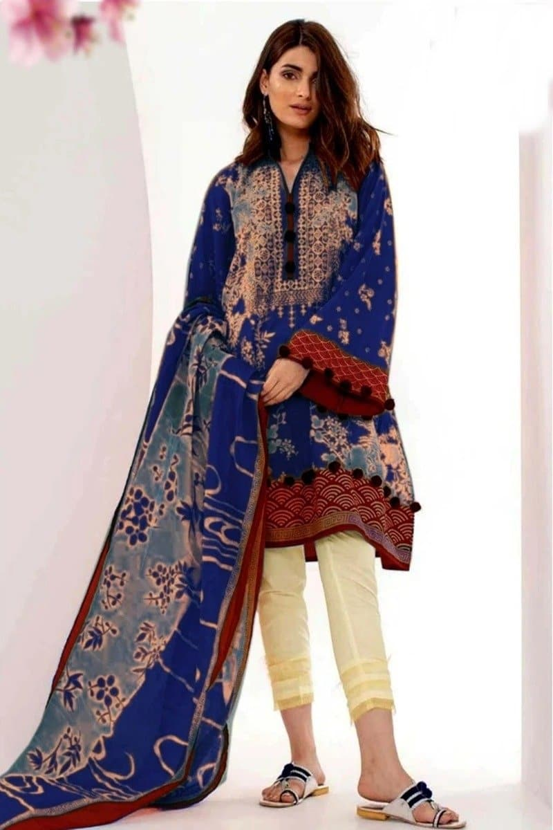 Khaadi ETP-18304 Blue Three Piece Summer Collection