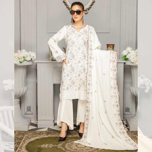 3Pcs Unstitched Suit Tabeer (Orignal) Design 106 - Chenab Stuff