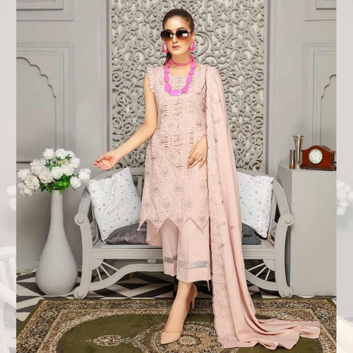 3Pcs Unstitched Suit Tabeer (Orignal) Design 107 - Chenab Stuff