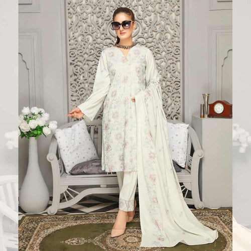 3Pcs Unstitched Suit Tabeer (Orignal) Design 108 - Chenab Stuff