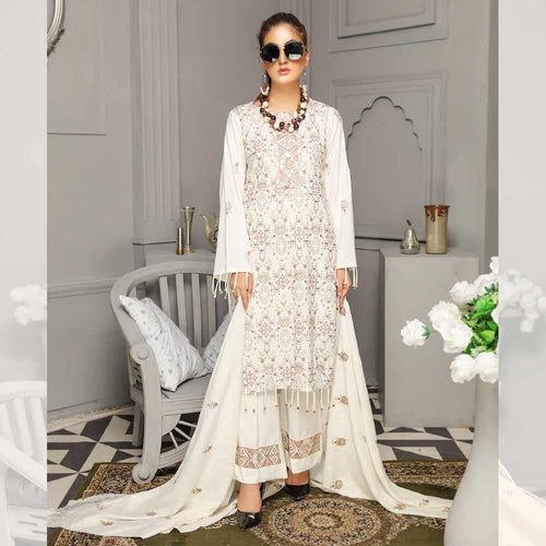 3Pcs Unstitched Suit Tabeer (Orignal) Design 109 - Chenab Stuff
