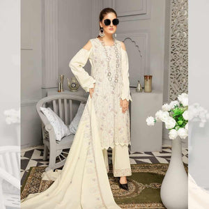 3Pcs Unstitched Suit Tabeer (Orignal) Design 110