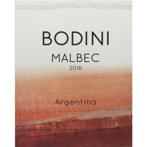 Bodini Malbec 2016 - 90 Points - 1case