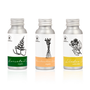 Trio of Botanicals Extracted in Jojoba Oil