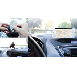 - Compact Magnetic Quick-Snap Car Dashboard Holder for Smartphones, Black