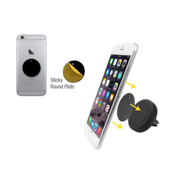 Compact Magnetic Quick-Snap Car Vent Holder for Smartphones, Black
