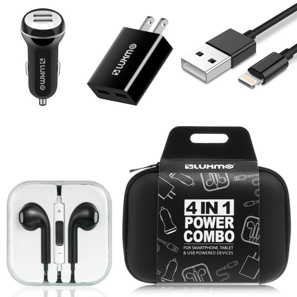 Luxmo charging bundle includes car home charger adapters luxmo charging bundle includes car home charger adapters lightning cable headphones buycottarizona