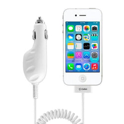 - Certified 2. 30-Pin Car Charger, White