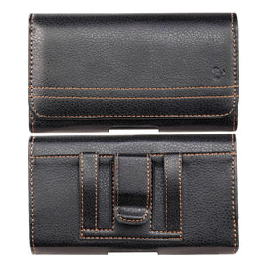 Luxmo Horizontal Universal Leather Holder Pouch ,Black