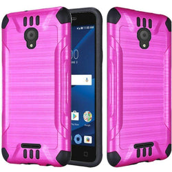 - Brushed Metal Design Combat Hybrid Rugged Case Hot Pink/black Phone Cases & Covers