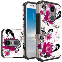 - Flowers And Vines Design Slim Hybrid Rugged Case White/pink Phone Cases & Covers