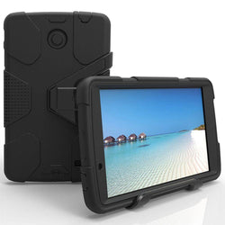 - Heavy Duty Shockproof Armor Tablet Case With Cover And Stand Black Phone Cases & Covers