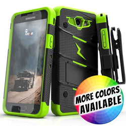 - Bolt Heavy-Duty Rugged Case, Holster and Screen Combo, Black/Green