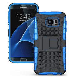 - Track Tire Design Rugged Hybrid Case With Kickstand Blue/black Phone Cases & Covers