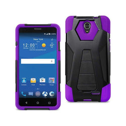 - Mighty Dual Layer Rugged Case With Kickstand Purple/black Phone Cases & Covers