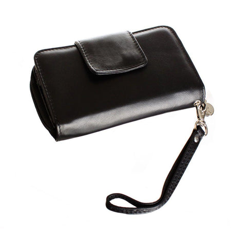 Utstarcom Cdm 8600 Limited Edition Genuine Leather Wristlet Clutch Wallet with Phone Holder