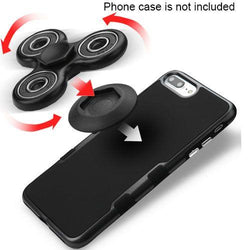 - Fidget Toy Spinner with Adhesive and Holder, Black