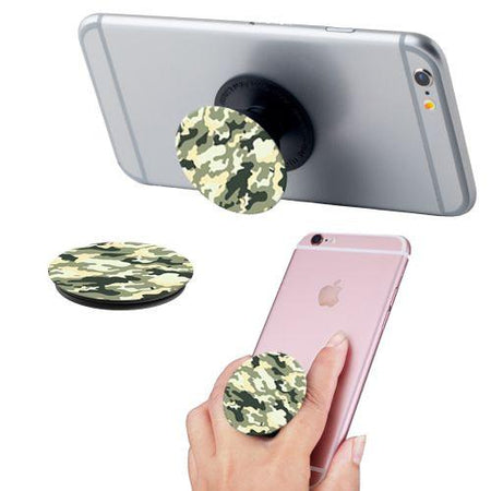 Other Brands Alcatel Onetouch Elevate Camo Print Expandable Phone Grip and Stand, Camo Green