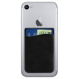 Apple iPhone 6 Vegan Leather Stick-on Card Pocket, Black
