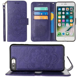 - Embossed Mandala Wallet Case With Detachable Matching And Wristlet Purple Phone Wallets Wristlets & Clutches