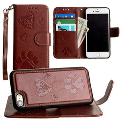- Puppy Love Wallet with Matching Detachable Magnetic Phone Case and Wristlet, Brown