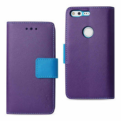 - Leather Wallet Case And Stand Purple/blue Phone Wallets Wristlets & Clutches