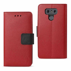 - Leather Wallet Case And Stand Red/black Phone Wallets Wristlets & Clutches