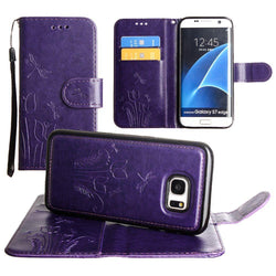 - Embossed dragonfly over tulip design wallet case with Matching detachable magnetic case and wristlet