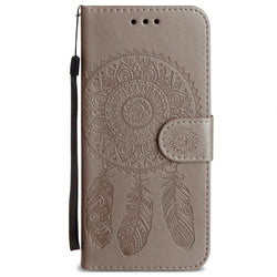- Embossed Dream Catcher Design Wallet Case With Detachable Matching And Wristlet Gray For Samsung Galaxy S9 Plus Phone Wallets Wristlets &