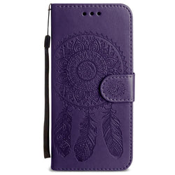 - Embossed Dream Catcher Design Wallet Case With Detachable Matching And Wristlet Purple For Samsung Galaxy S9 Plus Phone Wallets Wristlets &