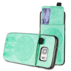- Embossed Dreamcatcher Leather Case With Pull-Out Card Slot Organizer Mint Phone Wallets Wristlets & Clutches