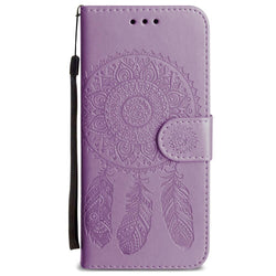 - Embossed Dream Catcher Design Wallet Case With Detachable Matching And Wristlet Lavender For Samsung Galaxy S9 Phone Wallets Wristlets &