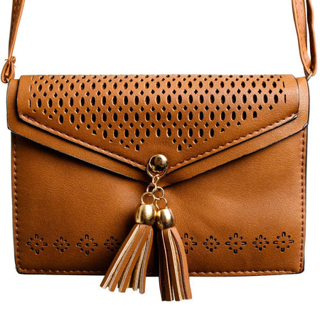 Lg Cookie Smart T375 Fringe Tassel Shoulder Bag