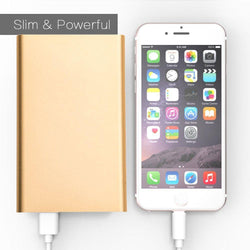 Utstarcom Cdm 8600 - 4000mAh Slim Portable Battery Charger/Power Bank, Gold