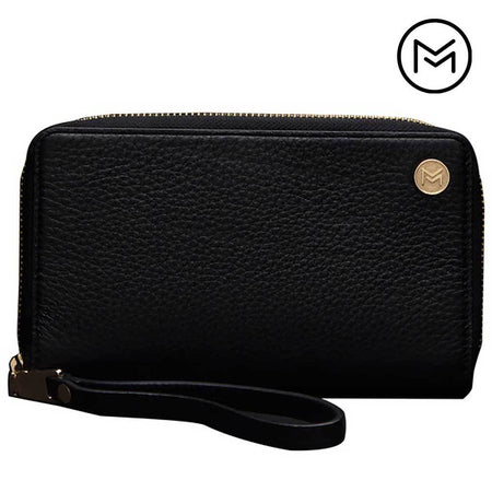 Other Brands Blu Studio 5 5 Limited Edition Mobovida Fairmont Premium Leather Wristlet, Black