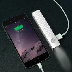 - HyperGear Stik Power Bank / Portable Phone Charger and Flash Light (2600 mAh) with Micro USB cable, White