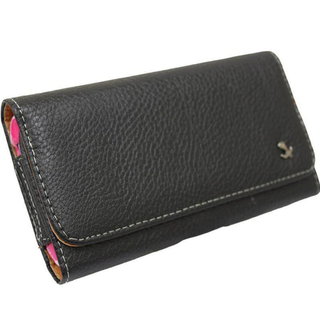 Kyocera Verve LUXMO EXEC Series Hand-Crafted Horizontal Leather Case with Belt Clip, Black