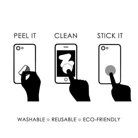 Mobovida Re-Usable Stick-On Screen Cleaner - Screen Protectors