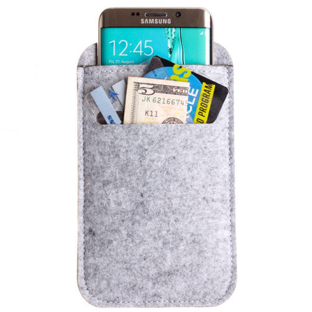 Other Brands Blu Studio 5 5 Felt Wool SmartPhone Sleeve,Gray