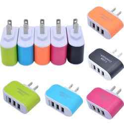 Alcatel Onetouch Pixi Eclipse - 3.1 Amp 3 USB Port Home/Travel Wall Charger Adapter, Black