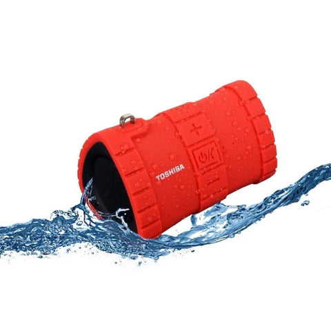 Toshiba Sonic Dive 2 Floating Waterproof Wireless Portable Speaker Red - Bluetooth & Audio