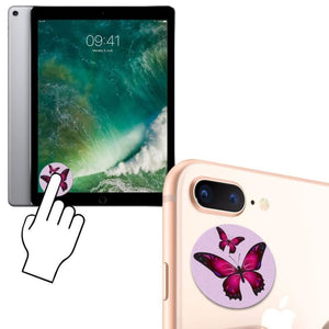 Twin Butterflies Design Re-Usable Stick-On Screen Cleaner Pink - Screen Protectors