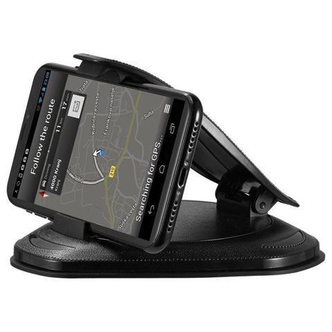 Universal Clamshell Style Dashboard Car Mount Holder With Adhesive Silicone Pad Black - Phone Holders Holsters & Belt Clips