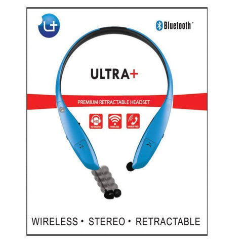 Image of Uplus Ultra Plus Sports Bluetooth Wireless Stereo Headset Blue - Bluetooth & Audio