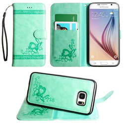 - Embossed heart vine design wallet case with detachable matching case