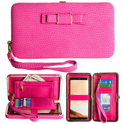 Huawei Ascend Y300 - Bow clutch wallet with hideaway wristlet