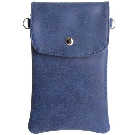 Alcatel A50 Leather Matte Crossbody bag with back zipper