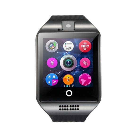 Q18 Bluetooth Smart Watch Touch Screen Passometer Message Call Reminder Alarm Clock Sleep Tracker for iPhone Android Phones